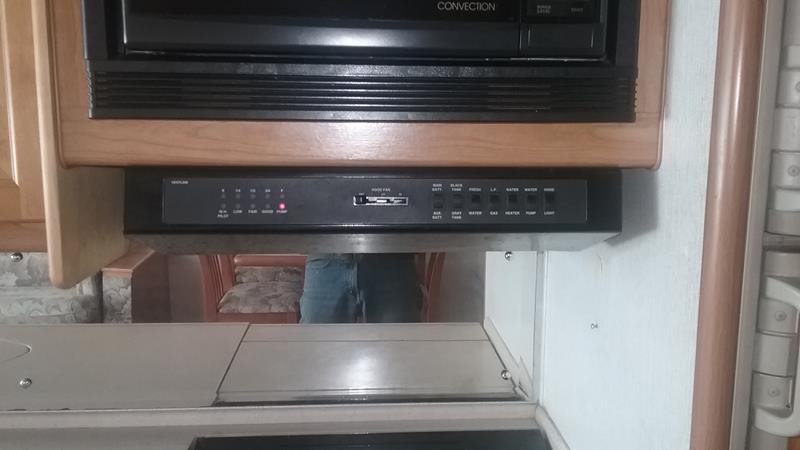 Range Hood switch and vent repair – 1999 Southwind 35S